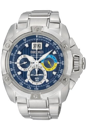 Seiko Velatura Quartz Chronograph SPC071P1 Watch (New with Tags)