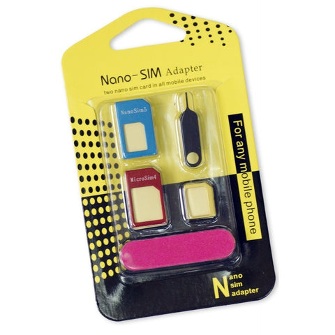 5 in 1 Metal Sim Card Adaptor