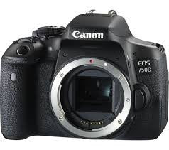 Canon EOS 750D Body Black Digital SLR Camera