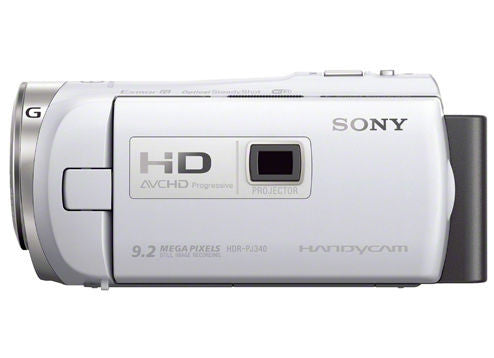 Sony HDR-PJ340E Flash Memory HD White (PAL) Video Camera and Camcorders