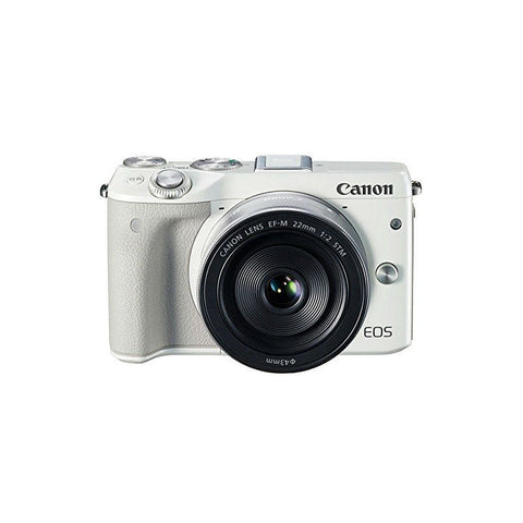 Canon EOS M3 with 22mm and 18-55mm White Digital SLR Camera