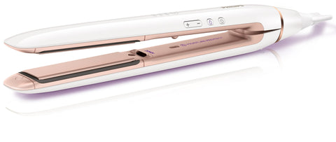 Philips HP8372 MoistureProtect Ionic  Conditioning Straightner (White/Copper)
