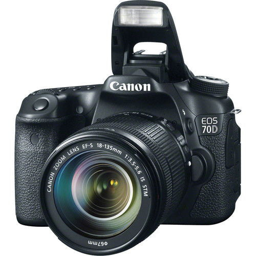 Canon EOS 70D Kit with 18-135mm STM Black Digital SLR Camera