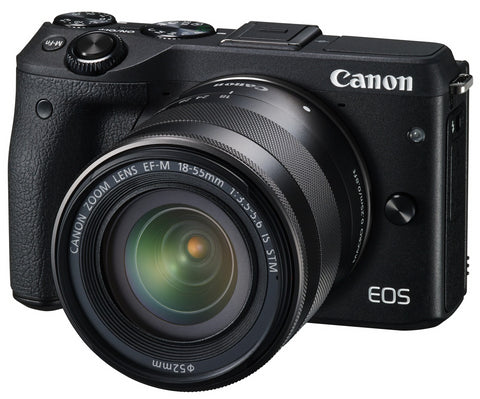 Canon EOS M3 with 18-55mm Black Digital SLR Camera