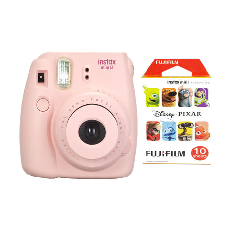 Fuji Film Instax Mini 8 Pink Instant Camera with Instax Mini (Pixar) Photo Paper