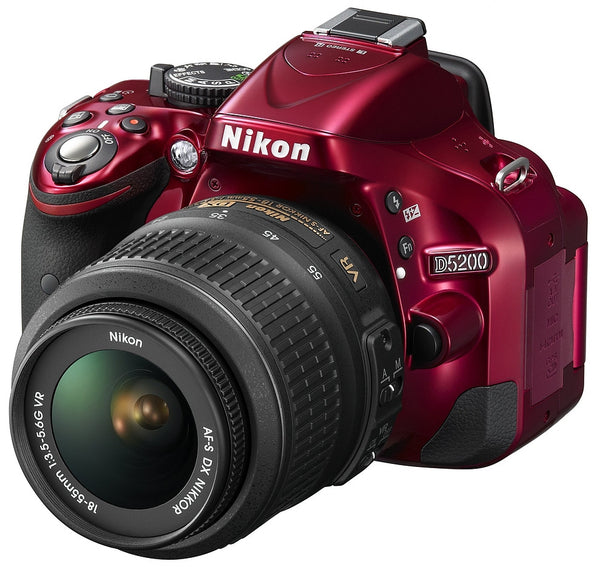 Nikon D5200 Kit with 18-55VR Lens Red Digital SLR Cameras