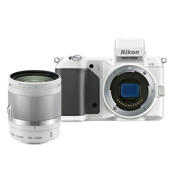 Nikon 1 V2 Kit with 10-100mm Lens White Digital SLR Camera