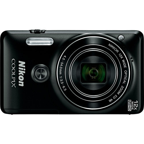 Nikon Coolpix S6900 Black Digital Camera