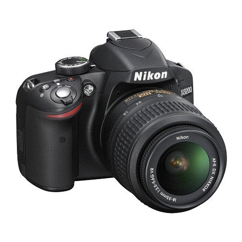 Nikon D3200 Kit with 18-55mm Lens Black Digital SLR Cameras