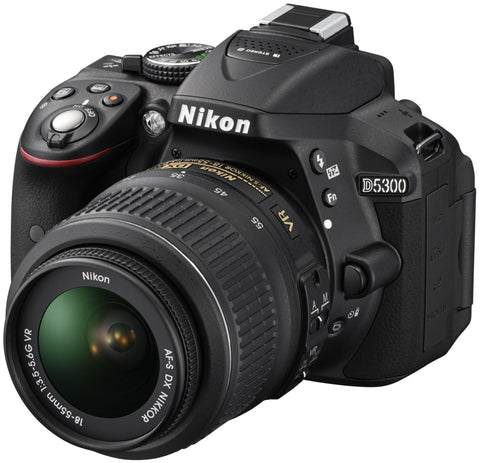 Nikon D5300 Kit with 18-55mm and 55-200mm Lenses Black Digital SLR Cameras
