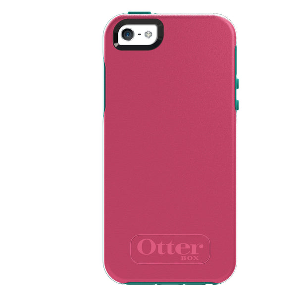 OtterBox Symmetry Series for Apple IPhone 5/5S Teal Rose