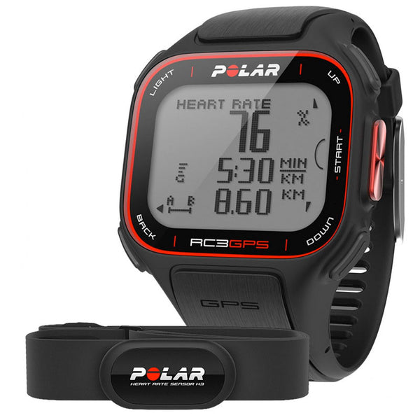 Polar Running and Multisport RC3 90051072 with Heart Rate Sensor GPS Sports Watch (Black)
