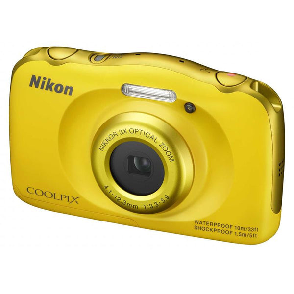 Nikon Coolpix S33 Yellow Digital Camera