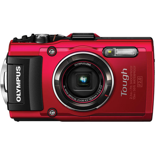 Olympus Stylus Tough TG-4 Red Digital Camera