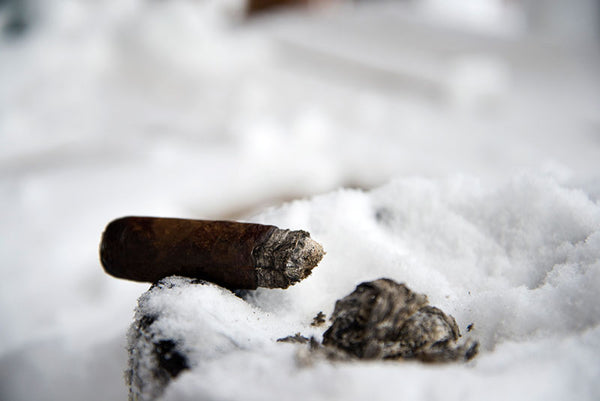 Cigar in snow