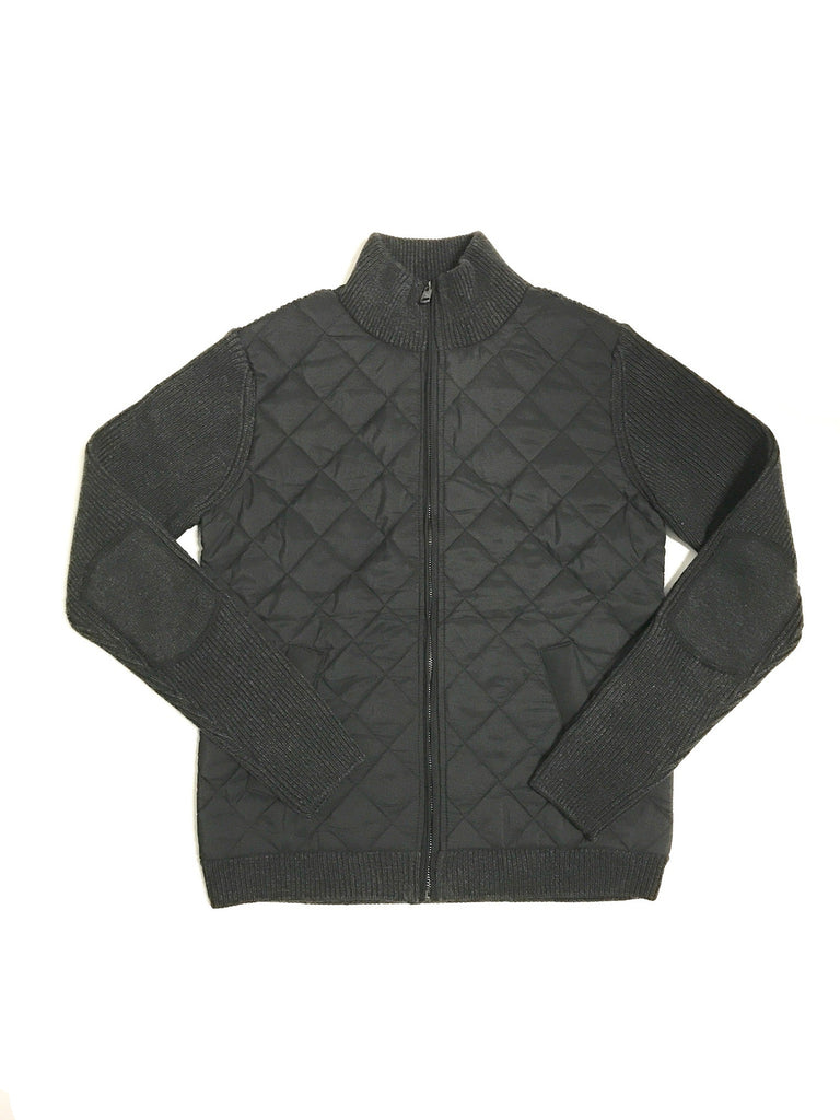 """Gatti"" Quilted Panel Knit Jacket"