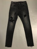 Black Repair Denim