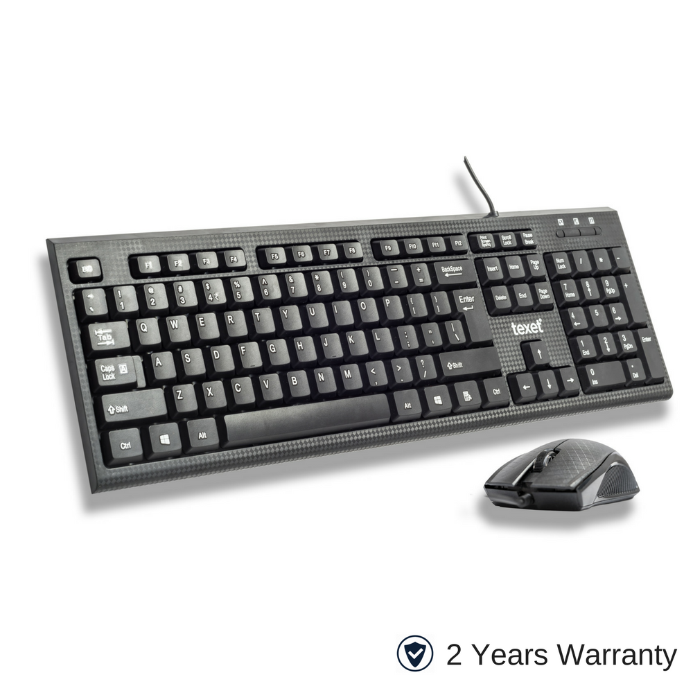 TEXET Wired Keyboard Mouse Combo - TEXET