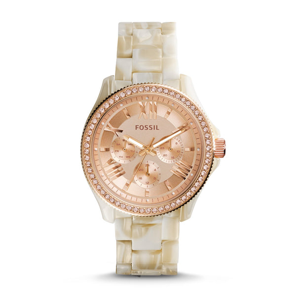 Fossil Cecile Analog Pink Dial Women's Watch AM4558 - TEXET