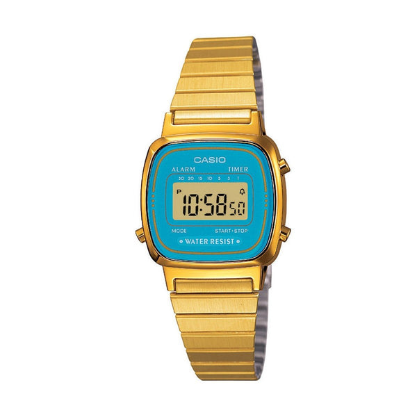 Casio LA670WGA-2DF Retro Digital Watch - TEXET