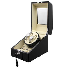 Load image into Gallery viewer, Black Dual Watch Winder for Automatic Watches - TEXET