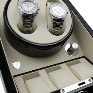 Black Dual Watch Winder for Automatic Watches - TEXET