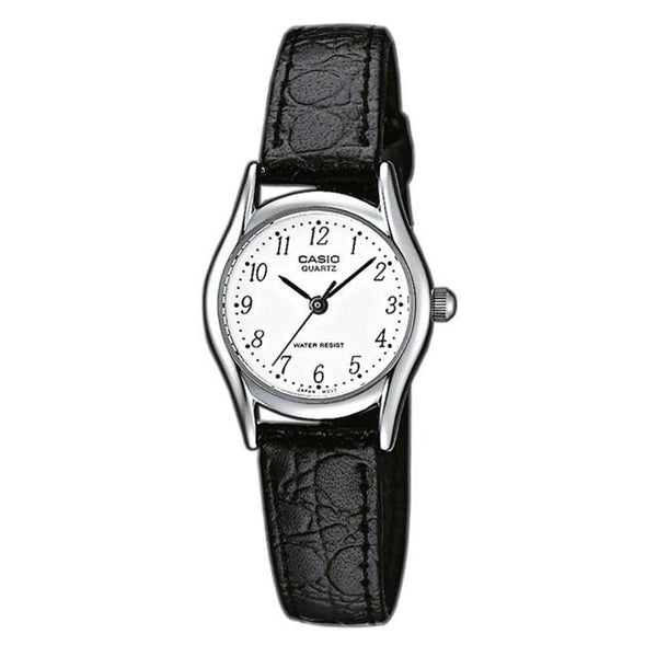 Casio Womens Black Leather Analog Watch LTP1154E-7B - TEXET