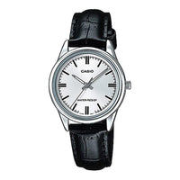 Casio Women's LTP-V005L-7AUDF Silver Dial Genuine Leather Band Watch - TEXET