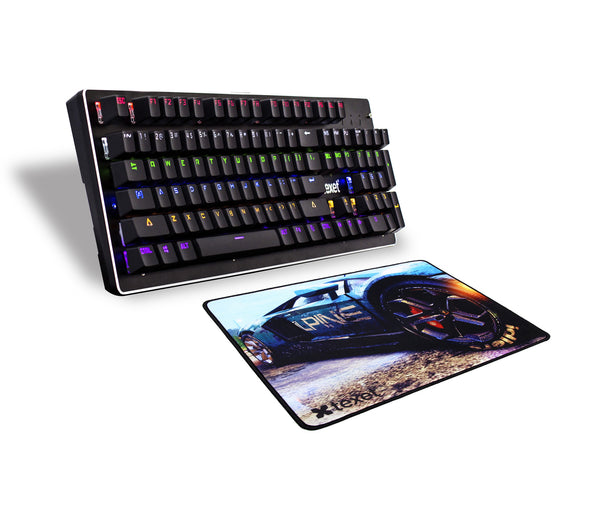 Mechanical Gaming Keyboard (104 Keys) & Mouse Pad Combo