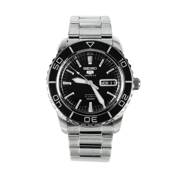 Seiko SNZH55K1 Automatic Black Dial Stainless Steel Mens Watch