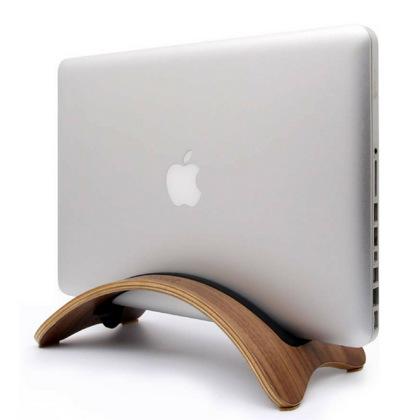 Wooden Macbook Stand (Black Walnut)