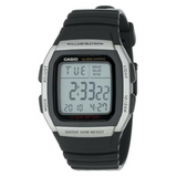 Casio Men's W96H-1AV Stainless Steel Sport Watch with Black Band - TEXET