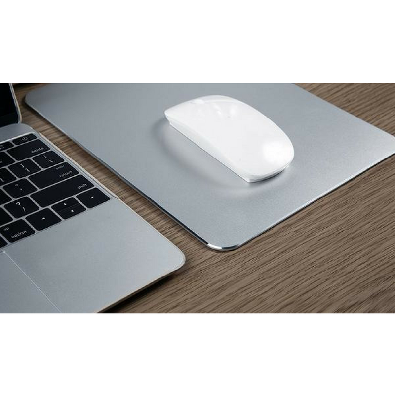 Texet XXL Aluminum Metal Mousepad Anti-Skid Mouse Pad Intensive Gaming Mousepad for MacBook, Laptop, Desktop & Windows PC - TEXET