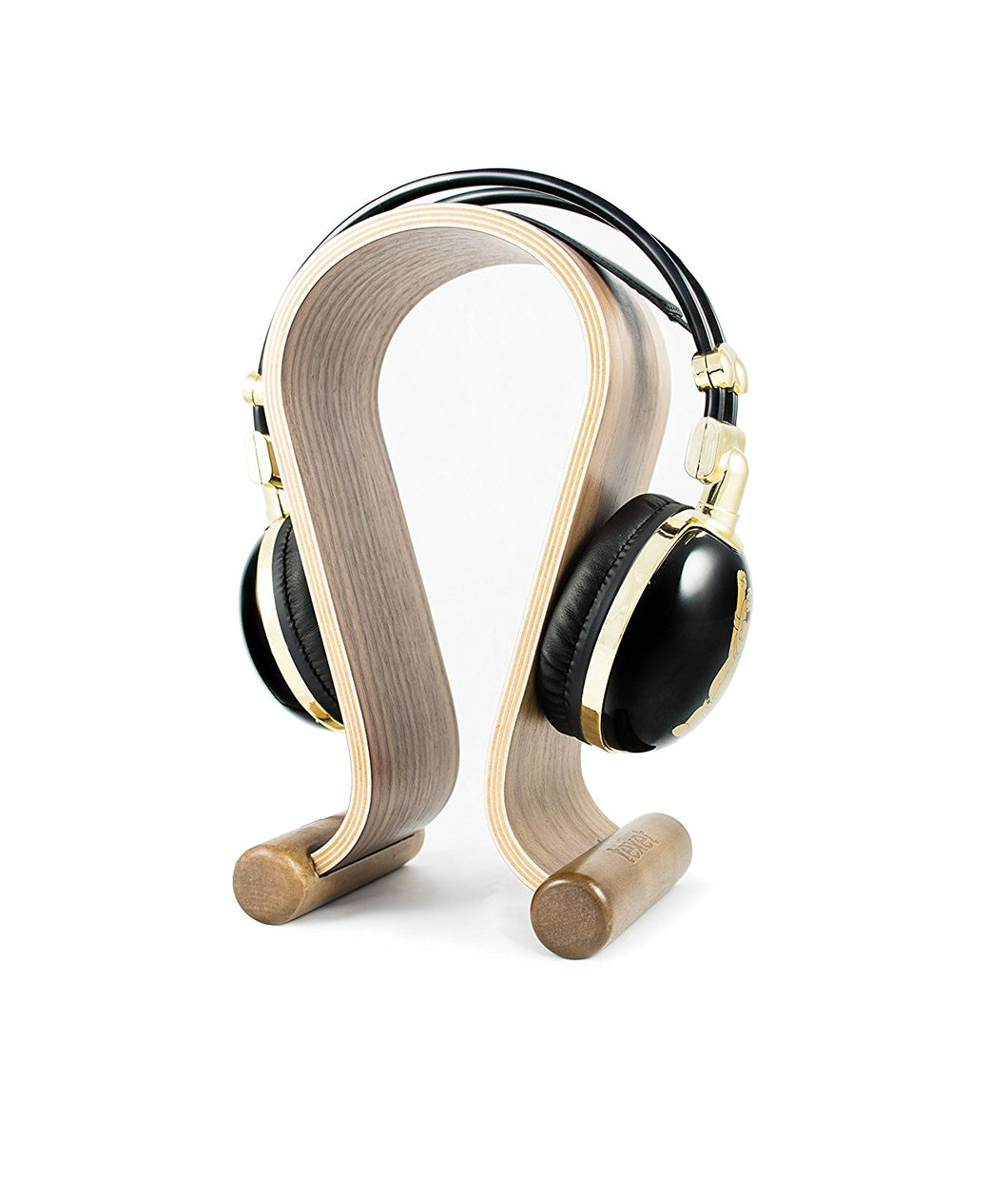 Texet Wooden Headphone Stand (Black Walnut) - HPS-001W - TEXET