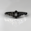 Black Diamond Gothic Engagement Ring
