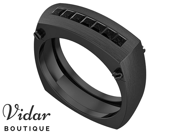 Black Diamond Black Gold Wedding Ring