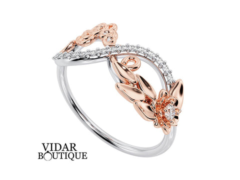 Unique Infinity Diamond Wedding Ring For Women