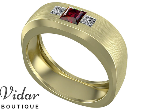 Unique Ruby Mens Wedding Ring