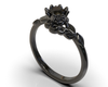Gothic Black Diamond Engagement Ring