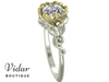 Lotus Flower Solitaire Engagement Ring