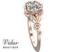Flower Shaped Rose Gold Engagement Rings
