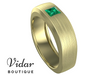 emerald unique mens wedding bands
