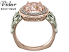Flower Morganite Engagement Ring