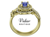 Tanzanite  Bridal Ring Set