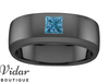 blue diamond mens wedding bands unique