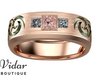 morganite wedding band