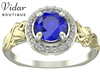 Flower Round Halo Engagement Ring