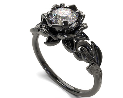 Gothic Diamond Engagement Ring