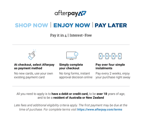 Isla-Maree Afterpay Info