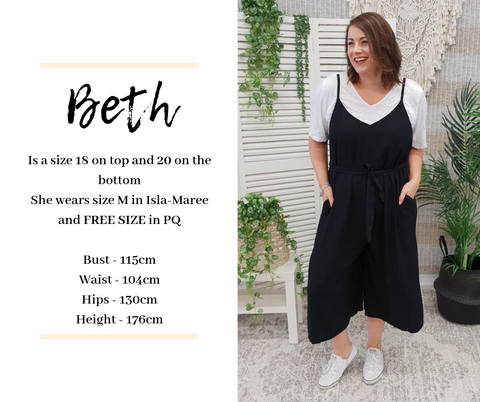 Beth Sizes | Sizing is Shit Size Chart